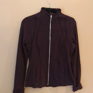 Lulu Define jacket. Plum Size 10